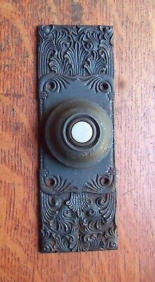 Antique Ornate Victorian Craftsman Doorbell Button by Russell Erwin c1890