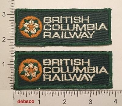 2 BRITISH COLUMBIA RAILWAY RR Railroad Embroidered PATCHES