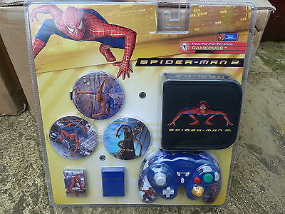 Nintendo Gamecube Spiderman Kit Controller Memory Card Game Wallet Lid Brand New