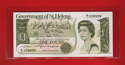 1981 Saint Helena 1 Pound Bank Note Crisp Uncirculated Banknote Currency Money