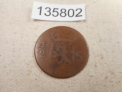 1800's Island of Sumatra 1/2 - Nice Collector Coin - # 135802