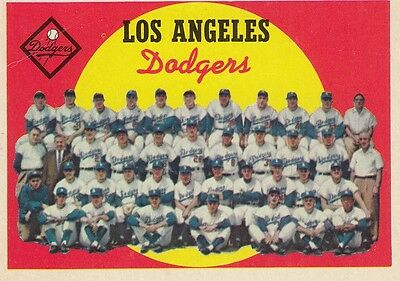 Topps 1959 #457 Los Angeles Dodgers Team Card