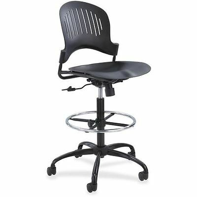 Safco Zippi Plastic Extended-Height Chair - Black 3386BL