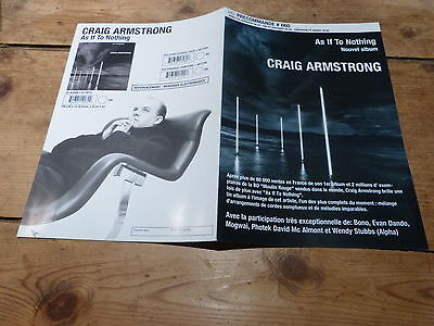 Craig Armstrong - As If To Nothing !!plan Media / Press Kit !!!!!!!!!!