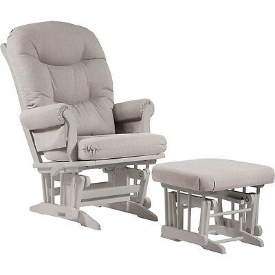Dutailier Ultramotion- Sleigh Glider Multiposition,Recline and Ottoman Combo- Wh