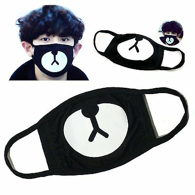 Fashion Ayo and Teo Face Mask panda bape  mask bear mouth black