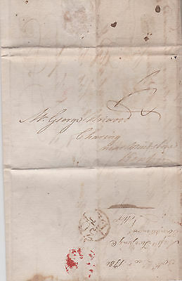 1786 London Bishopmark On Pre-Stamp Letter Mailed To Charing Near Maidstone Kent