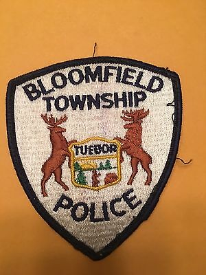Bloomfield  Mighigan  Police  Shoulder  Patch