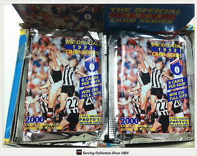 1993 Select AFL Trading Cards Sealed Loose Packs Unit of 4--packs