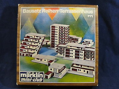 NOS Marklin Mini Club 8968 Z Scale Terrace House Construction Kit Train Layout