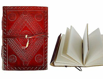OpenBox Rastogi Handicrafts Leather Journal Notebook Both Side Embossed 110X165