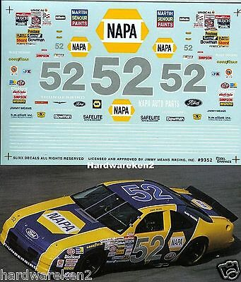 Nascar Decal #52 Napa 1993 Ford Thunderbird Jimmy Means Slixx