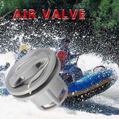 1/2PC Boat Air Gas Valve Cap For Inflatable Canoe Tender Raft Dinghy Kayak Grey