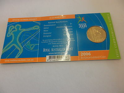 Royal Australian Mint 2006 Commonwealth Games Unc One Dollar coin