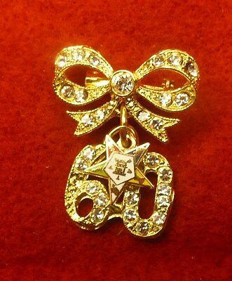 Eastern Star OES 60 years of service pin brooch NEW sixty