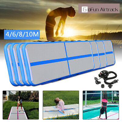 4/6/8/10M Inflatable Gym Mat Air Tumbling Track Gymnastics Cheerleading Mats
