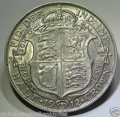 United Kingdom - 1912 King George V Silver Half Crown