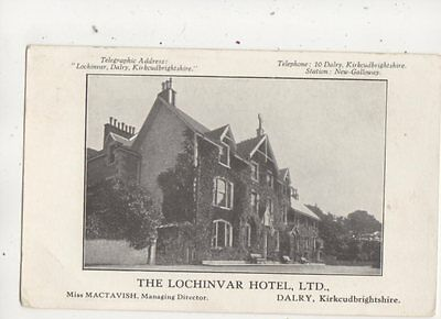 The Lochinver Hotel Dalry Kirkcudbrightshire Scotland Vintage Postcard 626b