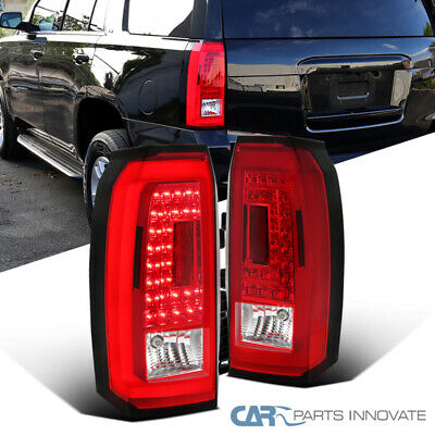 15-18 Chevy Tahoe Suburban Red/Clear LED Rear Tail Lights Parking Brake Lamps