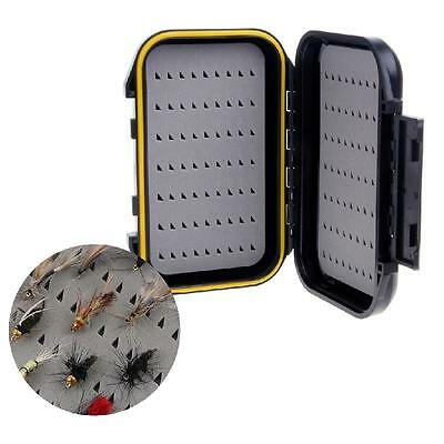 Portable Waterproof Fly Fishing Lure Bait Trout Flies Storage Box Case Container