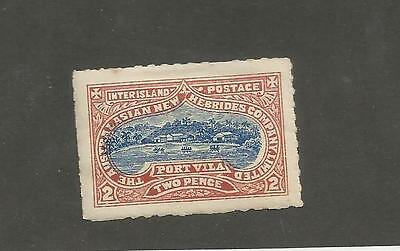H308) New Hebrides Company Unlisted Interisland Mail Stamp Mint Hinged