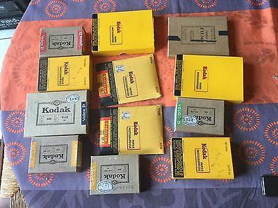 Lot de papier photo Kodak argentique ancien divers types et formats.