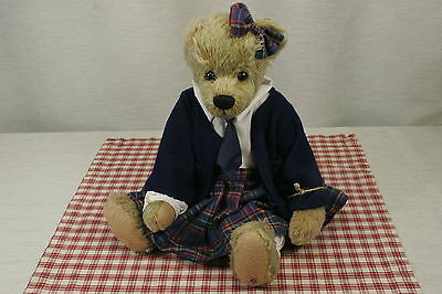 """Ganz Cottage Collectibles Girl Bear 1999 Mary Holstad  fully jointed 17"""" N2"""