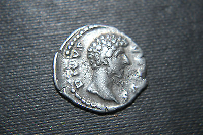 ANCIENT ROMAN DENARIUS COIN LUCIUS VERUS COMMEMORATIVE ISSUE 2nd CENTURY AD