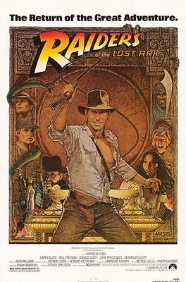 """Indiana Jones Poster """"RAIDERS OF THE LOST ARK"""" Large Size 68.5 cm X 101.5 cm"""