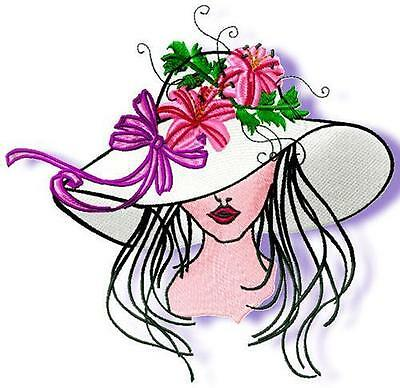 Elegant Hats 9 Machine Embroidery Designs 3 Sizes