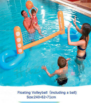 Floating Volleyball Swimming Pool Game Inflatable Family Water Fun New