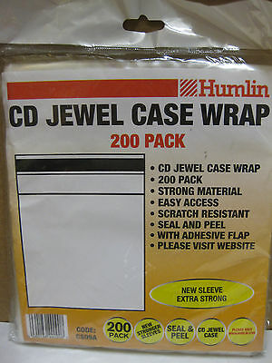 200 Cd Jewel Case Wrap 10.4 Standard Sleeve Seal And Peel Easy Access Protect