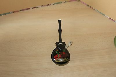 CASTANET SET in WOOD WITH SPANISH BULL FIGHTING SCENE