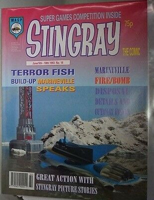 Stingray - The Comic. No 18.June 5th - June 18th 1993. ITC.