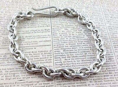 Sterling Silver Heavy Belcher Chain Bracelet with Clasp, 925 Thick Links (220)