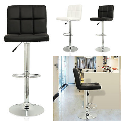 New 2pc Kitchen Breakfast Bar Stools Pu Swivel Counter Chair Footrest Barstools