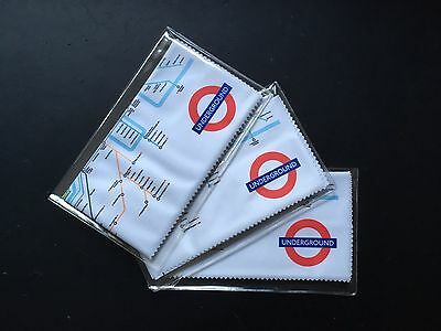 London Underground Tube Map SPECTACLE Lens Cleaning CLOTHS Triple Pack