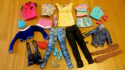 *Barbie Dolls Bundle Of Clothes Trousers,Tops,Shorts,Shoes & Accessories*