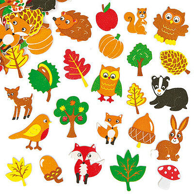 Woodland Friends Foam Stickers for Children to Decorate Cards (Pack of 100)