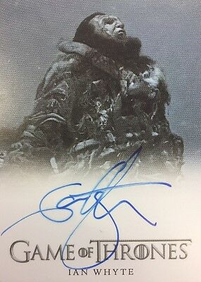 Game Of Thrones Season 6 Ian Whyte As Wun Wun Autograph Card Auto