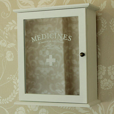 White wooden mirrored medicine storage cabinet home bathroom kitchen shelving