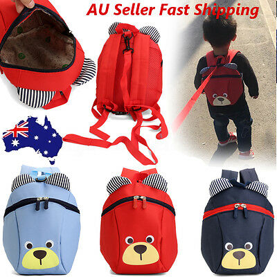 Anti-lost Kid Toddler Safety Harness Cute Bear Backpack Strap Walker Baby Bags