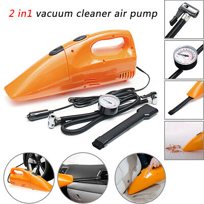 2 In1 Car Dry & Wet Vacuum Cleaner Pump Air Compressor Tire Inflator 150W 12V