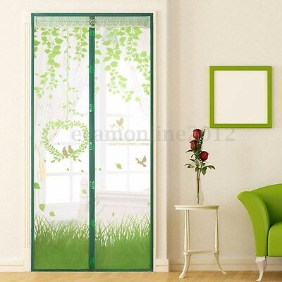 Magnetic Snap Door Window Mesh Fly Bug Insect Mosquito Curtain Screen Net Guard