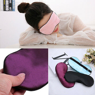 Women Men Pure Silk Sleep Eye Mask Shade Cover Travel Relax Aid Blindfold Patch