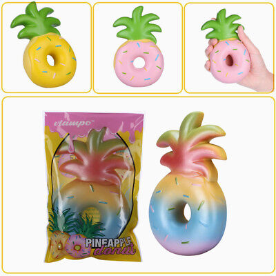 Vlampo Squishy Jumbo Pineapple Donut Slow Rising Original Package Fruit Gift Toy