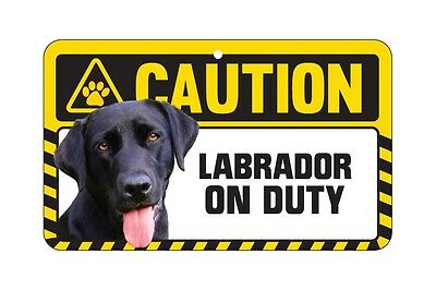 Dog Sign Caution Beware - Labrador