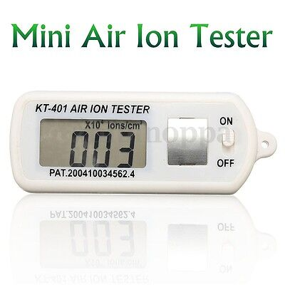 Air Ion Tester Meter Counter -Ve Negative Ions With Peak Maximum Hold Battery US