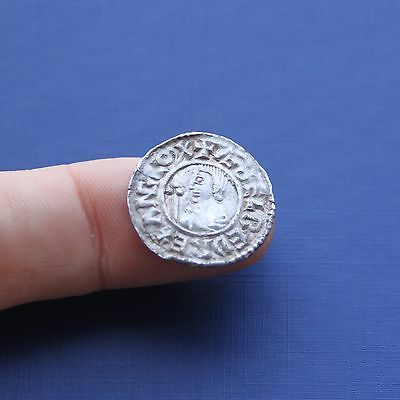 Hammered Silver Saxon / Viking Coin Aethelred 2nd Penny c 978 AD
