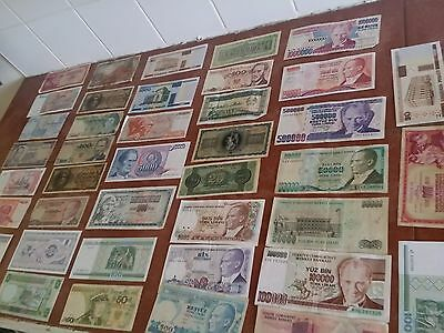 39 notes World Banknote collection all you see 39 notes
